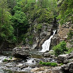 Linville Falls in NC